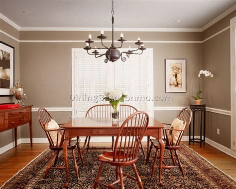 Photo  Dining Room Color Ideas With Chair Rail Images 15