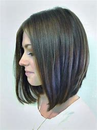 Hairstyle Long Angled Bob Haircut