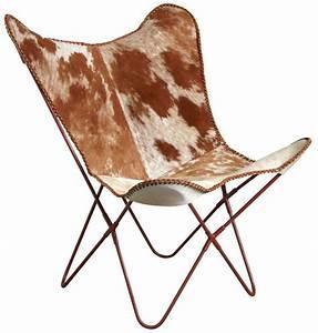 Fauteuil Peau De Vache : fauteuil papillon en peau de vache ~ Teatrodelosmanantiales.com Idées de Décoration