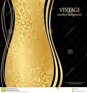 Elegant Seamless Gold Wallpaper Stock Vector - Image: 29532370