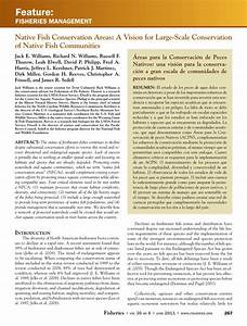 (PDF) Native Fish Conservation Areas: A Vision for Large ...