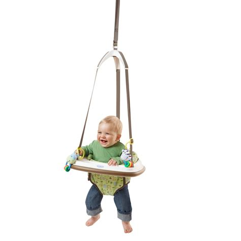 door swing baby graco doorway bumper jumper jungle