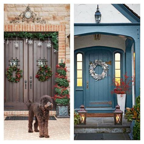 idees de decoration de porte dentree de noel noel