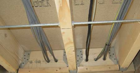 Electrical Safe Zones For Running Cables Through Walls