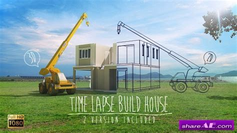 time lapse after effects template videohive time lapse build house stock footage 187 free