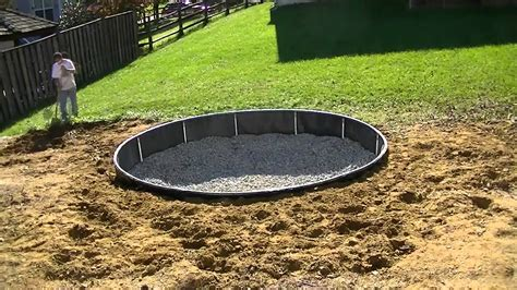 How To Bury A In The Backyard by Burying The Troline Garden Ideas