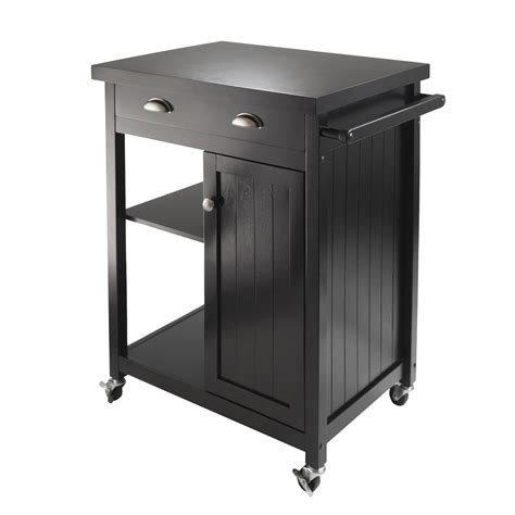 wood kitchen island cart winsome wood 20727 timber kitchen cart black lowe 39 s canada
