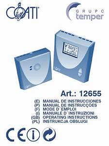 Manual Termostato Coati 12655 Esp