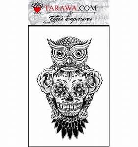 Tete De Mort Mexicaine Femme : tatouge hibou et t te de mort tarawa piercing ~ Melissatoandfro.com Idées de Décoration