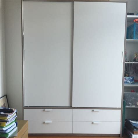 ikea trysil wardrobe furniture shelves drawers