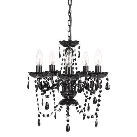 and black chandelier tadpoles 5 light black onyx chandelier cch5pl020 the
