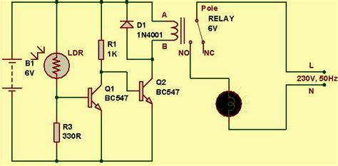 Automobile Wiring Diagram Light Switch by Light Sensor Circuit Diagram With Working Operation