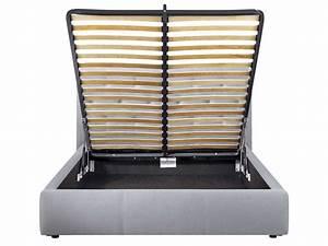 Coffre Lit 160x200 : lit adulte 160x200 cm clarissa coffre coloris gris vente de lit adulte conforama ~ Teatrodelosmanantiales.com Idées de Décoration