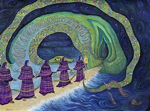 Ancient Serpent Painting by Shoshanah Dubiner