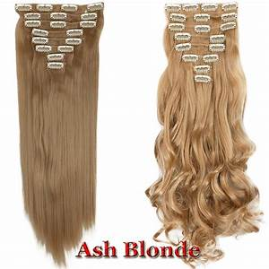 100 Natural Remy Clip In Hair Extensions 8 Pieces Full