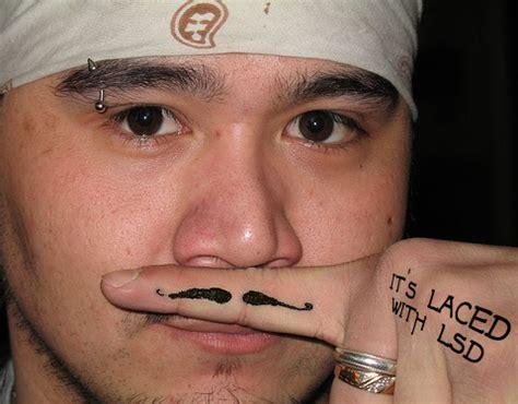 tattoos  men mustache tattoo
