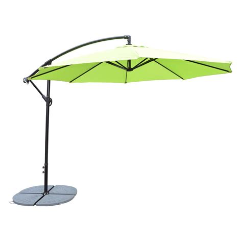 10 ft cantilever patio umbrella in lime green hd4110 lg