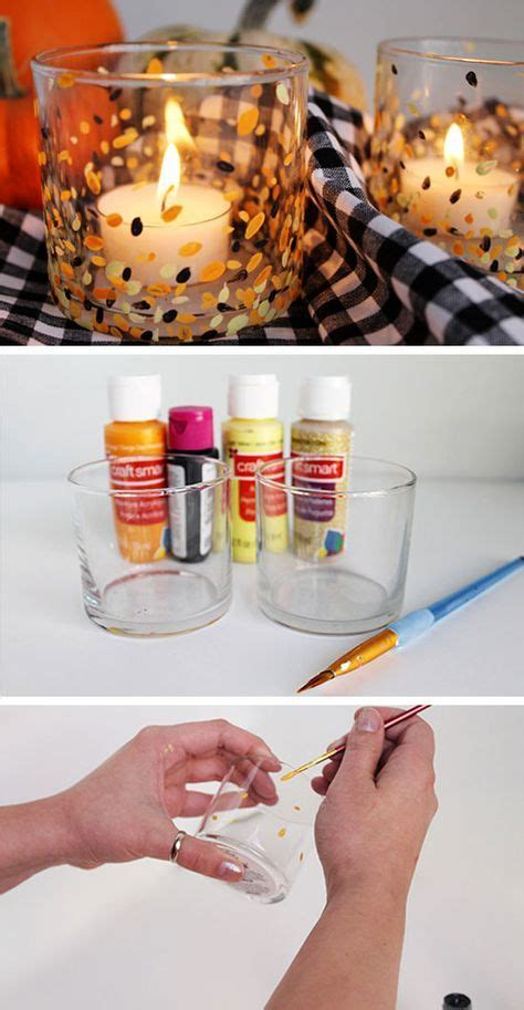 anthropologie inspired painted candle holders  diy