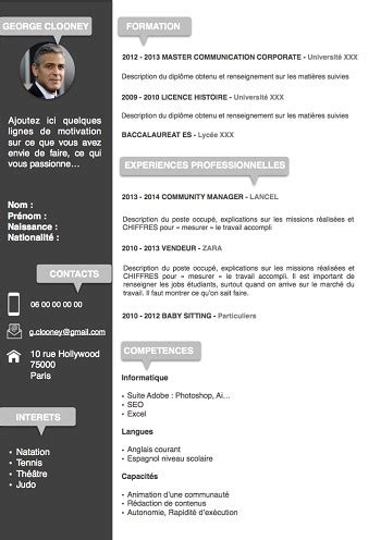 Modele Cv Doc by Modele De Cv Doc