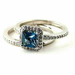 Perfect Blue Topaz Wedding Rings With Matching Wedding