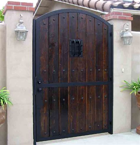 wood and iron gates designs gates iron wood gates