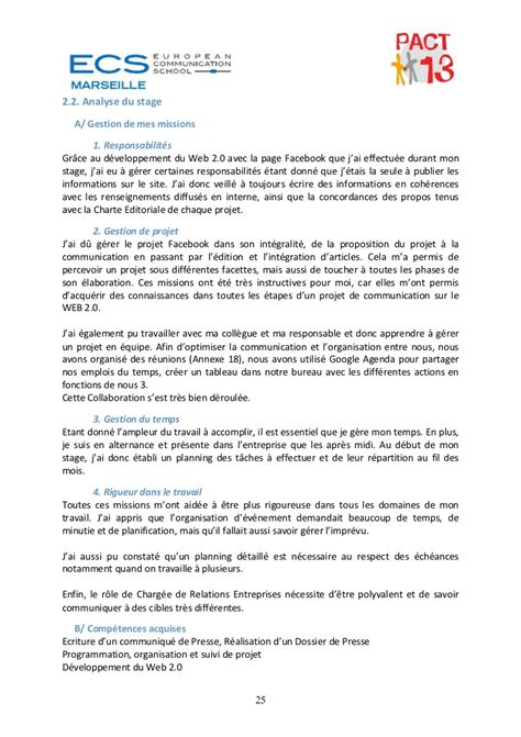 rapport de stage cuisine collective rapport stage pact13