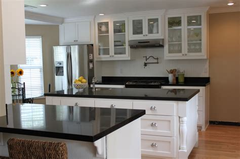kitchen ideas white cabinets black countertop video   madlonsbigbearcom