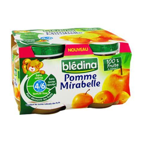 petit pot bebe bledina petits pots b 233 b 233 pomme mirabelle bl 233 dina tous les produits desserts aux fruits prixing