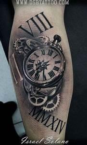 Tatouage Montre A Gousset Avant Bras : tatouage horloge realiste tatoo ~ Carolinahurricanesstore.com Idées de Décoration