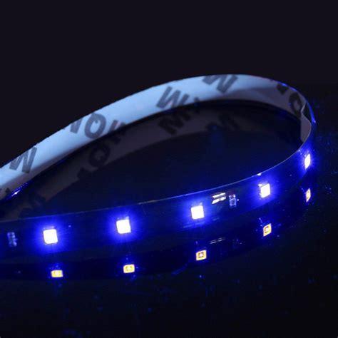 led light strips for cars exterior 2x 1ft blue led light strips flexible bright adhesive tape