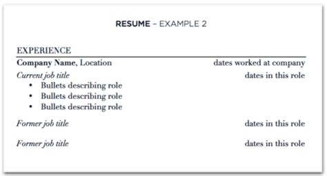 updating your resume with at one company