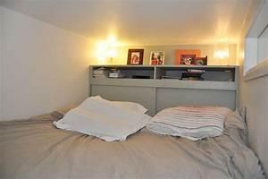 chambre parentale avec tete de lit equipee de rangements With chambre avec tete de lit