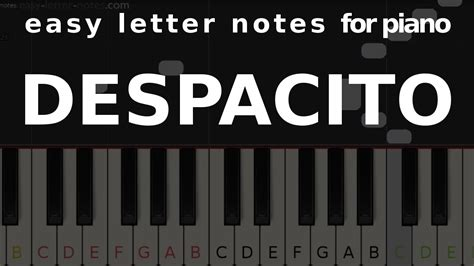 Most easy piano song notes will all fall on the white keys, so there's no need to worry about labeling sharps and flats just yet. DESPACITO - easy letter notes for piano - sheets, scores, note☻ Chords - Chordify