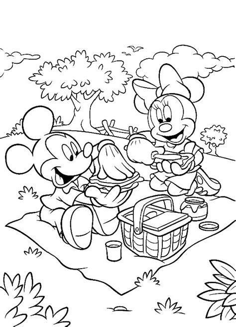 disegni da colo topolino pic nic da stare e colorare