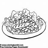 Coloring Sausages Delicious 2055 Meals Colouring Yummy Coloringbymiki sketch template