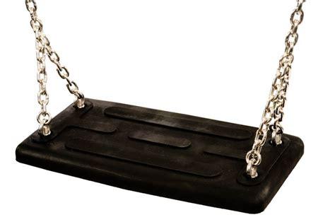 siege balancoire siège de balançoire standard noir avec chaines pièces