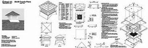 Classic Roof Cupola Plans for Shed, Garage, Home #13030 eBay