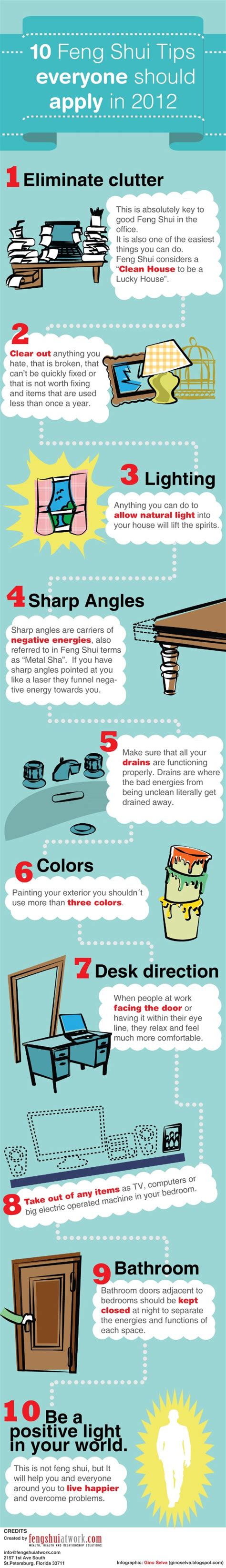 10 Feng Shui Tips  Daily Infographic