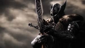 Fantasy Warrior With Sword Metal Helmet - WallDevil