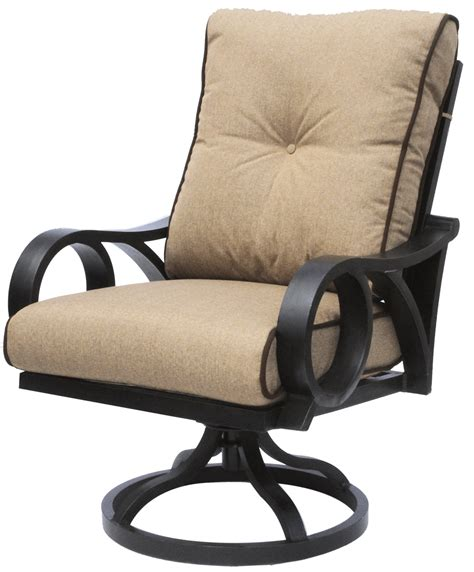 The swivel movement means they are quite easy to get in and out of, and the. Outdoor Patio Swivel Rocker Chair With Sunbrella Sesame ...