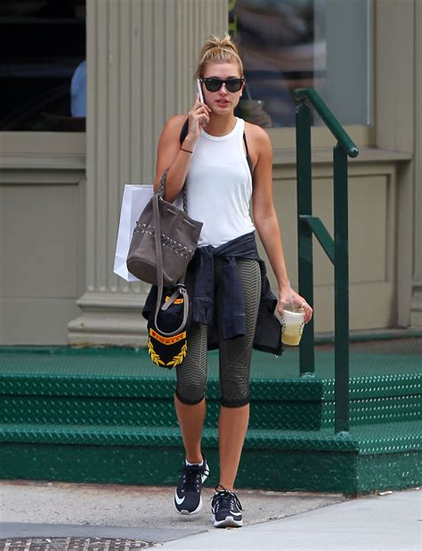 HAILEY BALDWIN in Leggings Leaves a Gym in New York 07/29/2015 - HawtCelebs