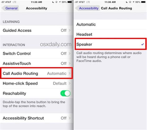 iphone recent calls settings how to set speakerphone mode to automatically activate on