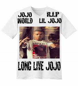 R I P LIL JOJO LONG LIVE JOJO JOJO WORLD V Neck T Shirt
