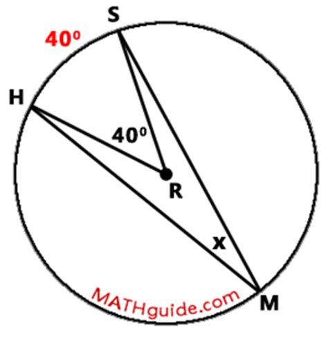 Inscribed Angle And Arc Relationship