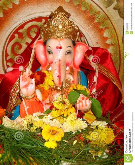 beautiful idol lord ganesh  stock photo image