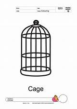 Cage Coloring Pages Colouring Template Thick Line Designlooter Parakeet Birds Templates Larger 1414 24kb 2000px sketch template