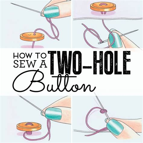 how to sew how to sew a two hole button how to sew sew magazine