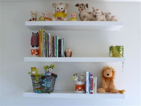 Simple White Modern Shelving For The Nursery. Use