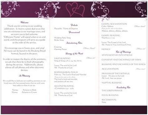 does anyone diy wedding programs templates