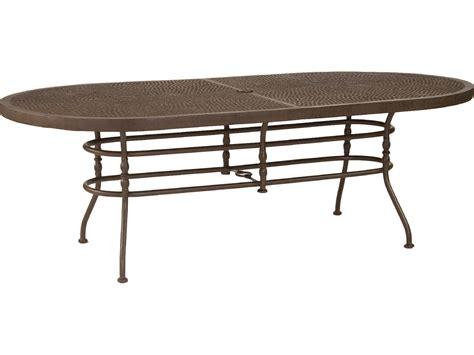 castelle veranda cast aluminum 86 x 44 oval dining table